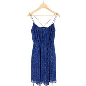 Banana Republic Womens Dress Blue Snake Print XS